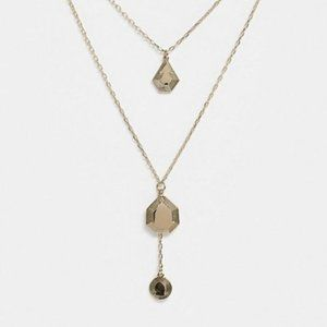 & Other Stories layered medallion necklace